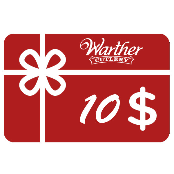 Warther Cutlery $10 Gift Card