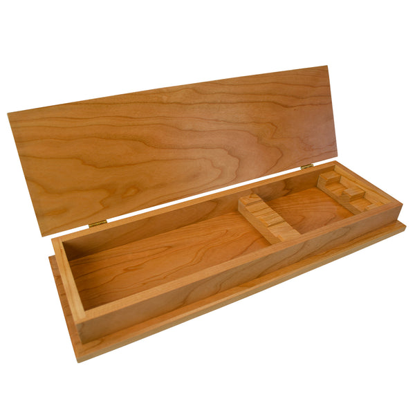 Elegant Wood Chest For Carving Set (Empty)