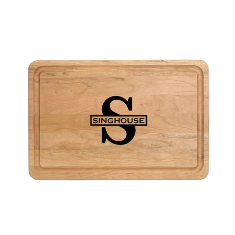 "Custom Engraved - 18"" X 12"" Cutting Board"