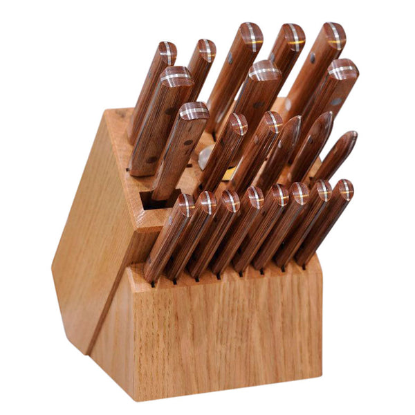 "Professional Chef Block Set with 5"" Steak Knives"