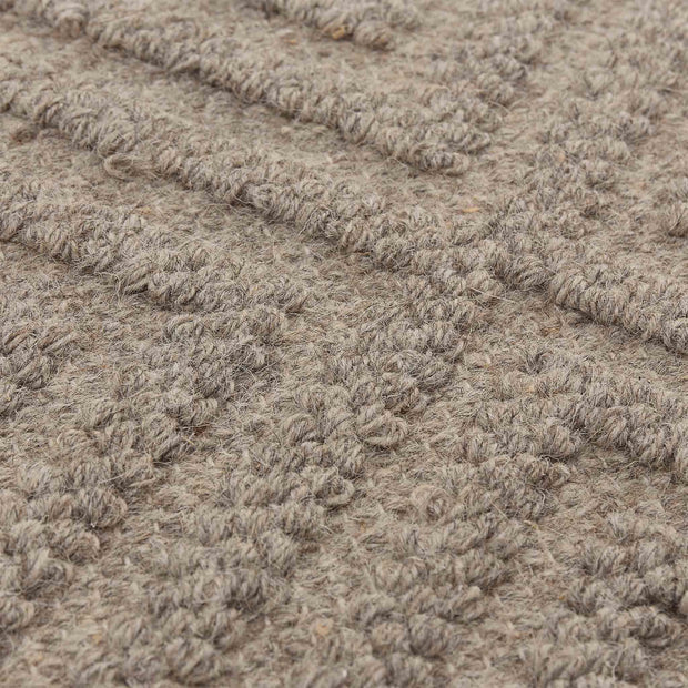 Barod Rug stone grey, 100% wool | Find the perfect wool rugs