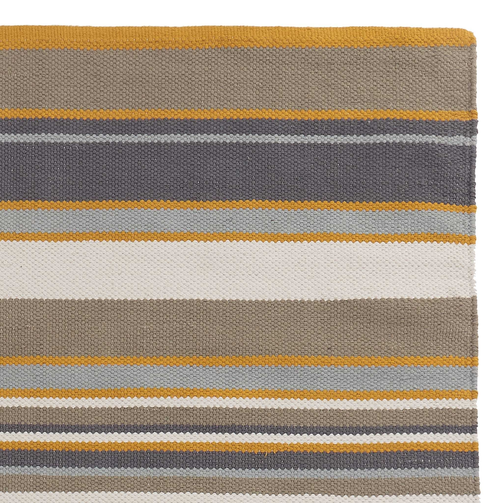 Mandana Rug dark grey & olive green & mustard, 100% cotton