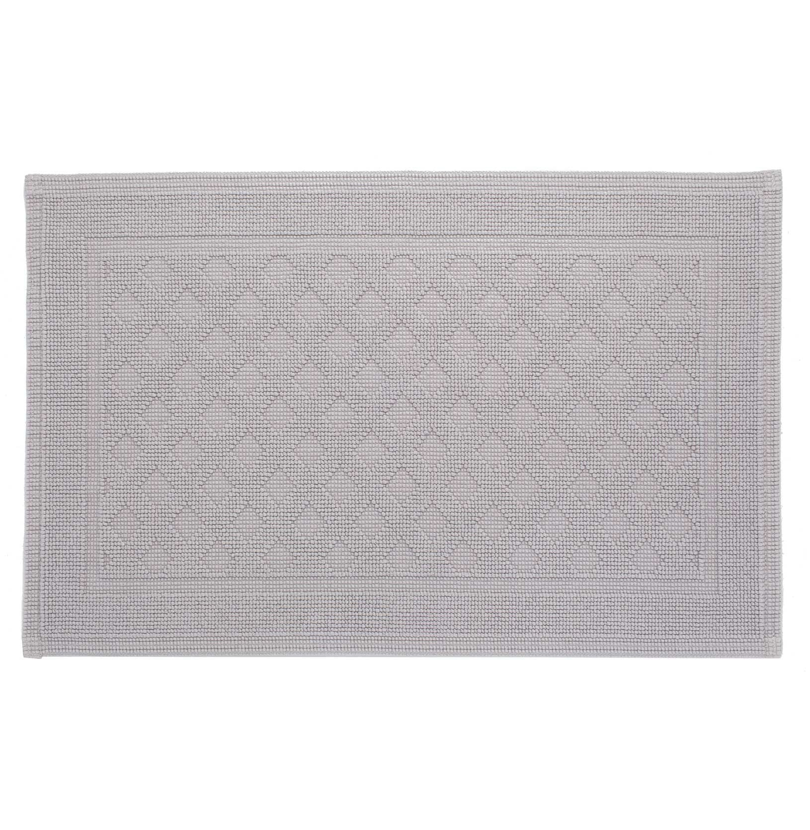 Osuna bath mat, light grey, 100% cotton