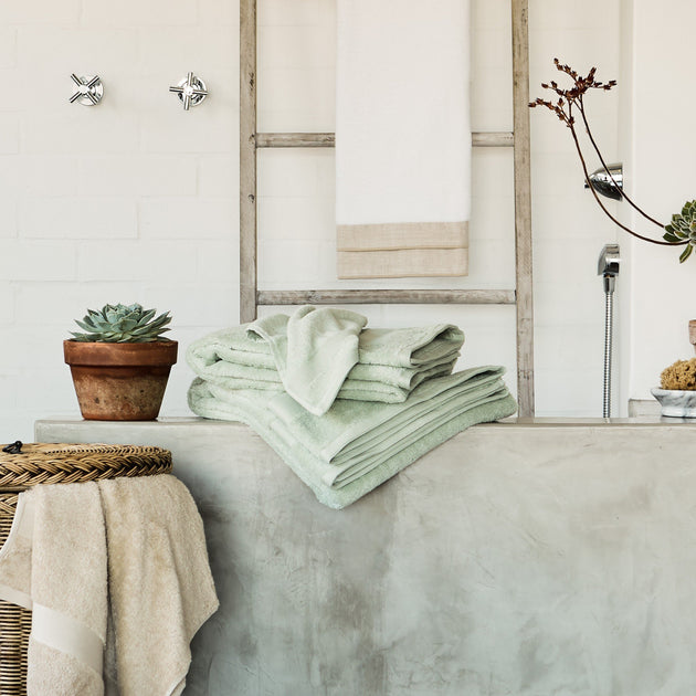 Penela Towel Collection in mint | Home & Living inspiration | URBANARA