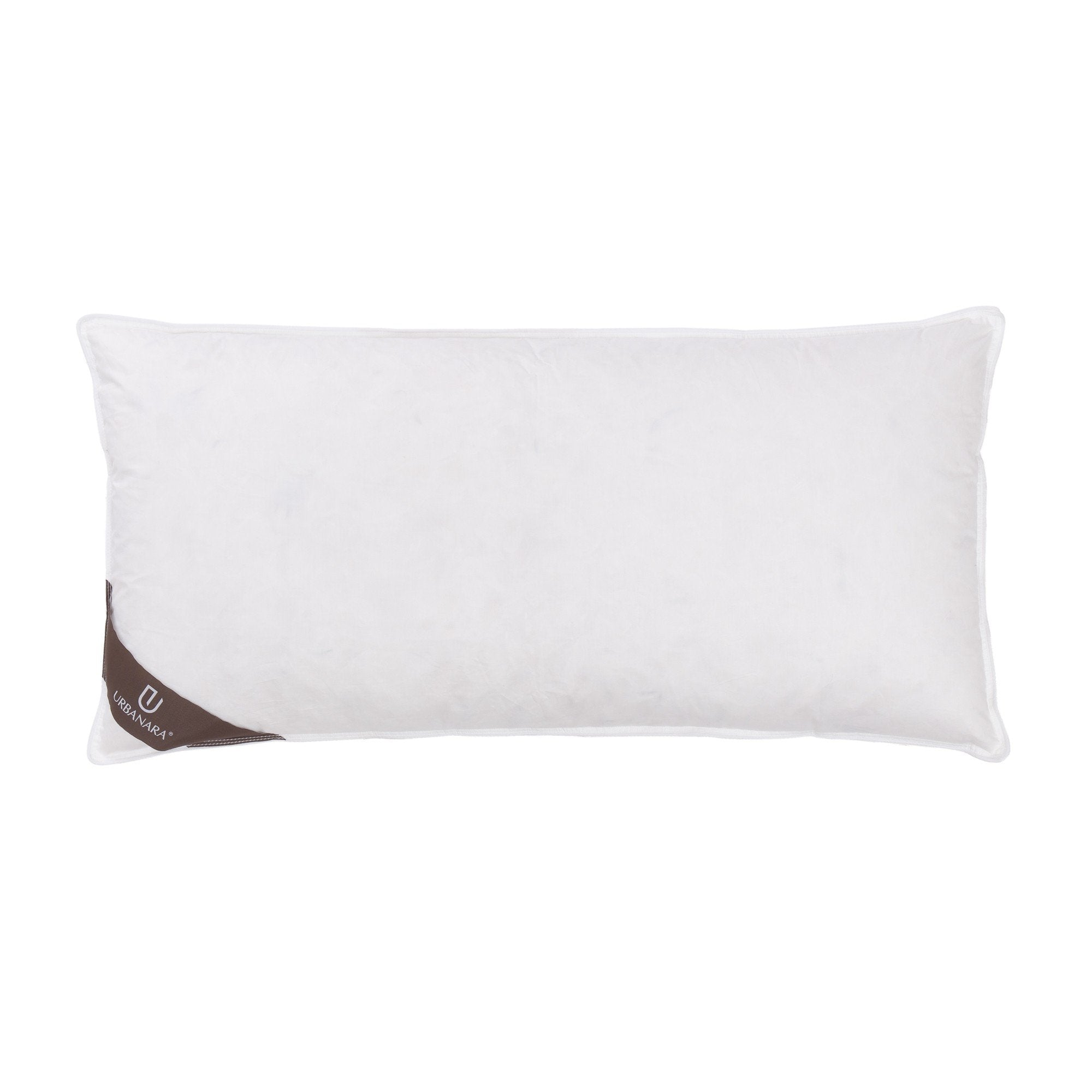 Trige pillow, white, 80% goose feathers & 20% goose down & 100% cotton | URBANARA pillows