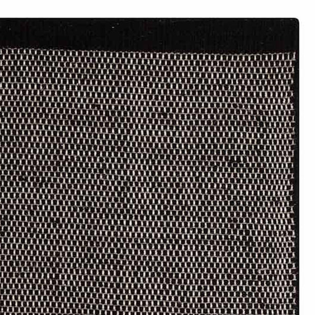 Kolong rug, black & off-white, 100% new wool