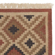 Nohar Rug rust orange & sand & olive green, 80% jute & 20% wool