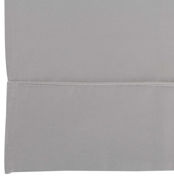 Benais flat sheet, grey, 100% cotton | URBANARA sheets