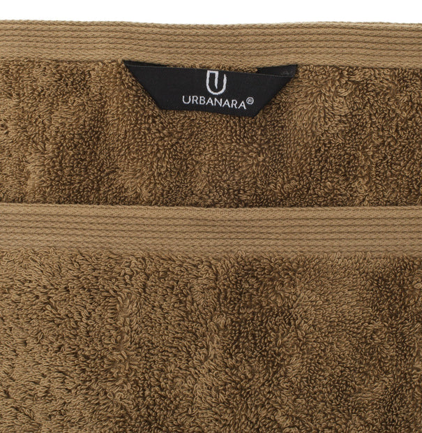 Penela hand towel, brown, 100% egyptian cotton | URBANARA cotton towels