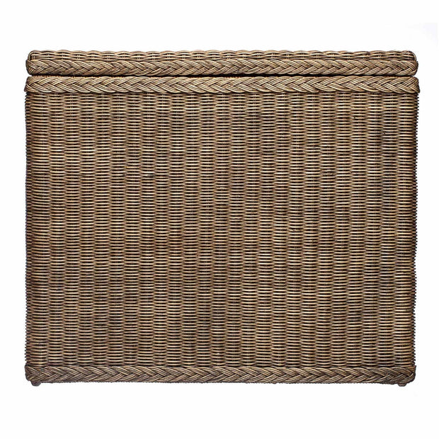 Java laundry basket, dark brown, 100% rattan & 100% cotton