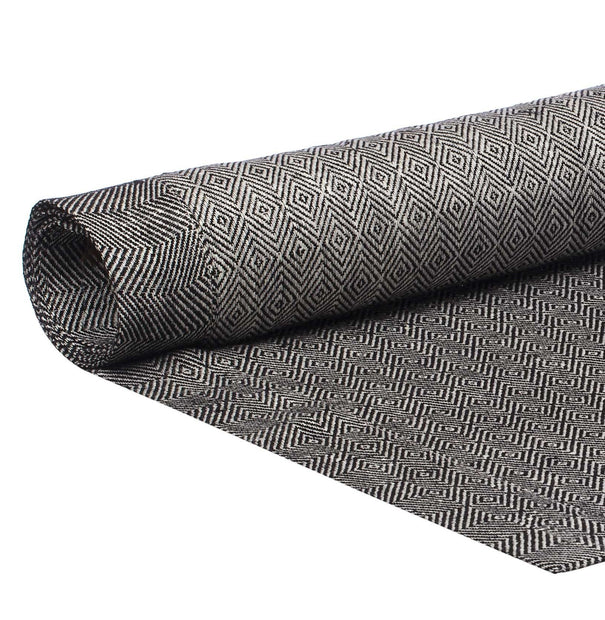 Zarasai table runner, black & white, 100% linen | URBANARA table runners