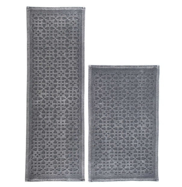 Qasita bath mat in charcoal, 100% cotton |Find the perfect bath mats