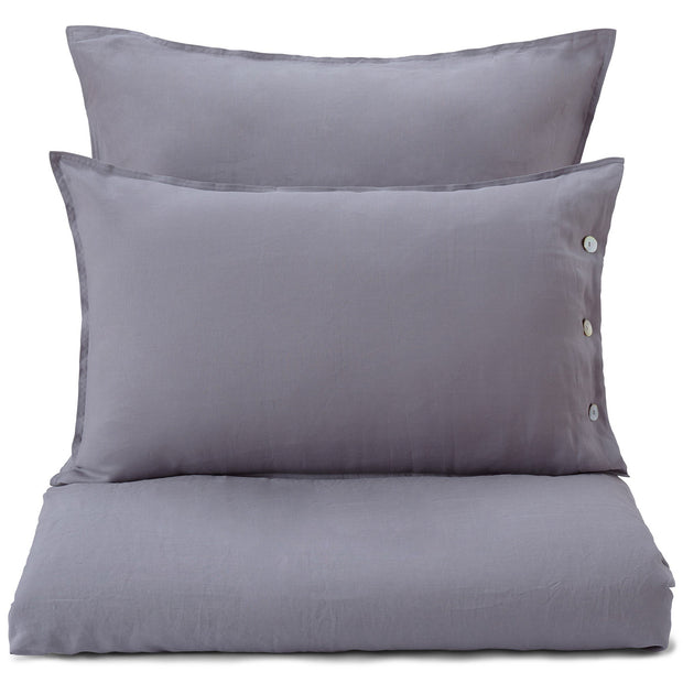 Bellvis duvet cover, charcoal, 100% linen