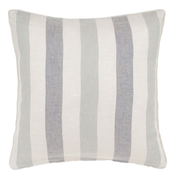 Formosa cushion cover, light blue & natural, 100% linen