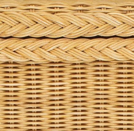 Java laundry basket, honey, 100% rattan & 100% cotton | URBANARA laundry baskets