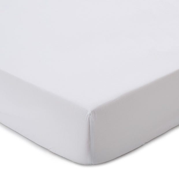 Perpignan fitted sheet, white, 100% combed cotton