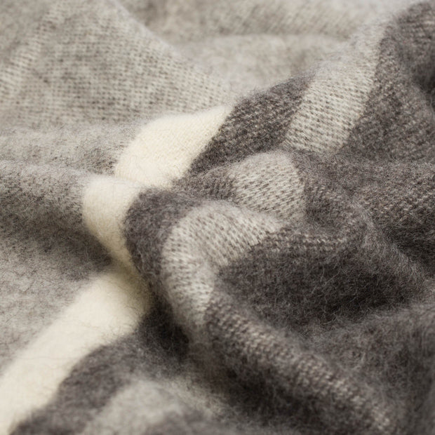 Salakas Wool Blanket brown & grey, 100% new wool | Find the perfect wool blankets