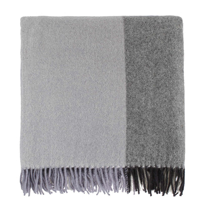 Caracas Merino Blanket black & grey & cream, 100% merino wool