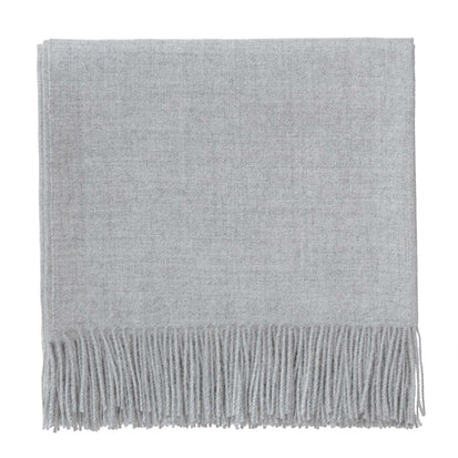 Arica blanket, light grey, 100% baby alpaca wool