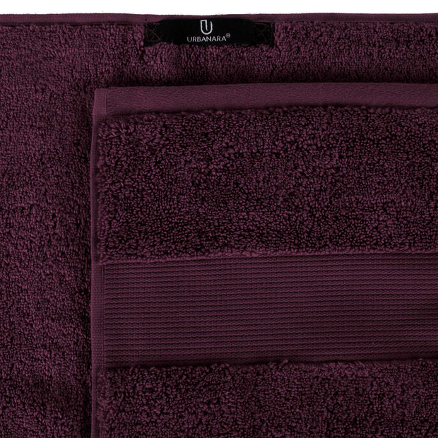 Alvito hand towel, bordeaux red, 100% zero twist cotton |High quality homewares