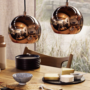 Koge Ball Pendant Lamp in copper & black | Home & Living inspiration | URBANARA