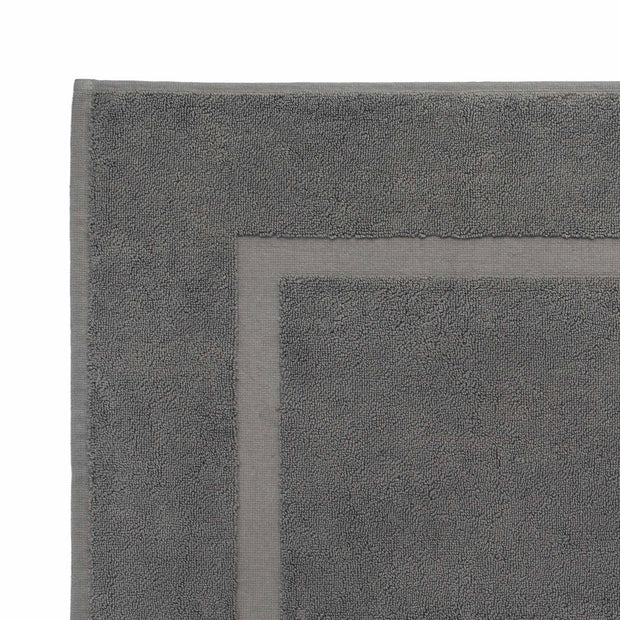 Penela bath mat, platinum grey, 100% egyptian cotton |High quality homewares