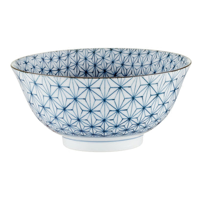 Onuma bowl, white & blue, 100% ceramic