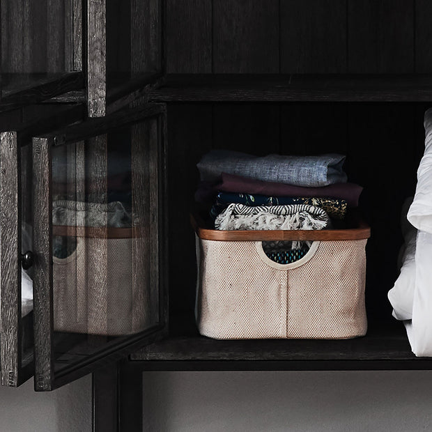 Champa storage, natural & brown, 57% linen & 43% cotton |High quality homewares