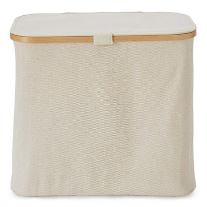 Champa laundry basket, natural & brown, 57% linen & 43% cotton