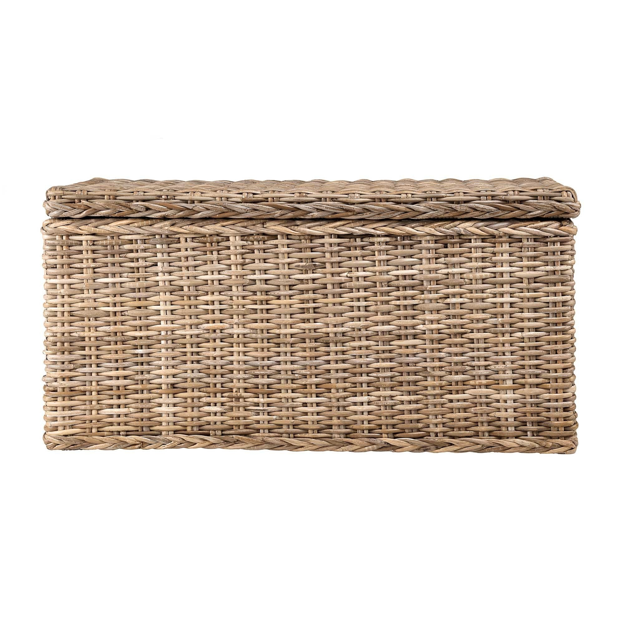 Java trunk, grey brown, 100% rattan & 100% cotton