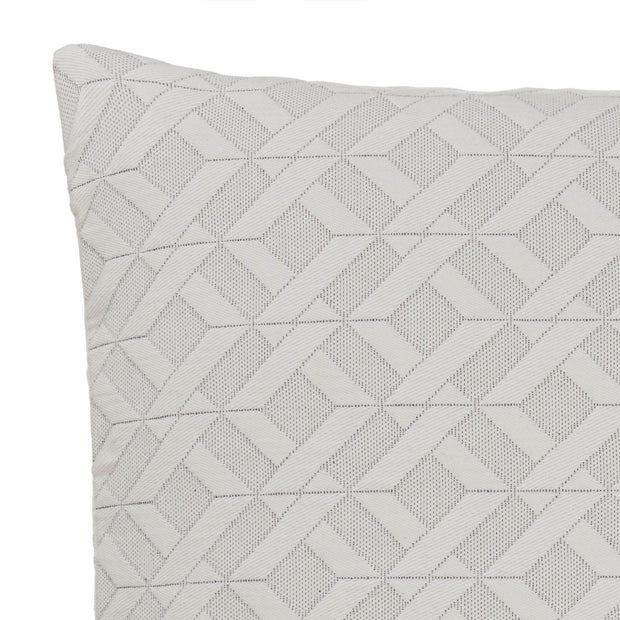 Aldeia cushion cover, light cream & black, 100% cotton | URBANARA cushion covers
