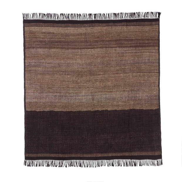 Orchha blanket, black & natural, 60% wool & 40% silk | URBANARA silk blankets