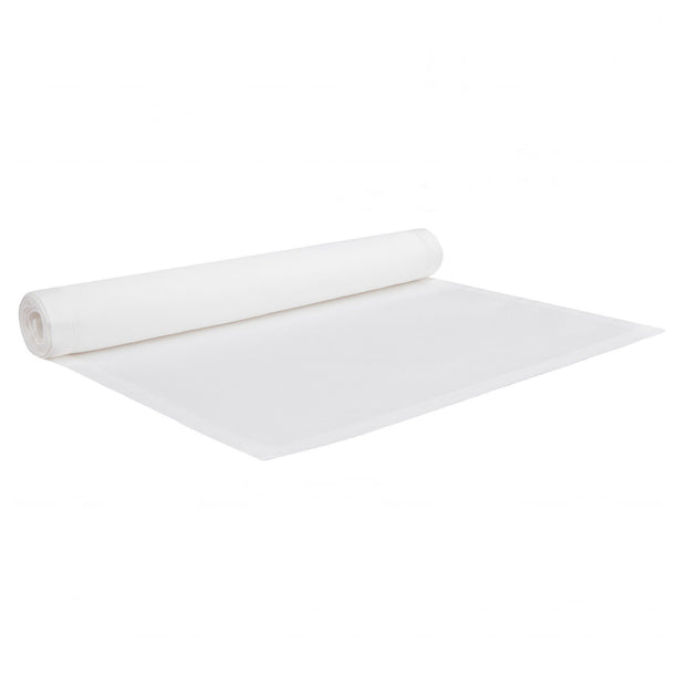 Gandra table runner, white, 100% cotton