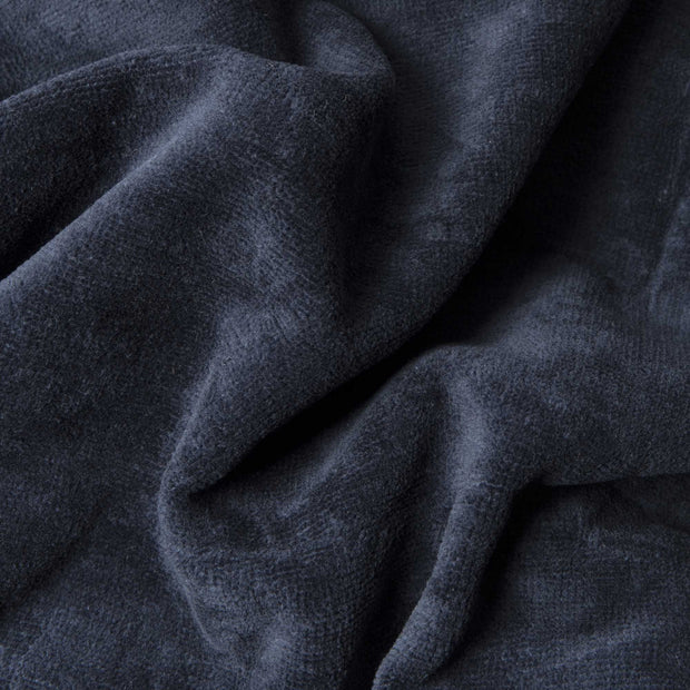 Samora bathrobe, dark blue, 100% cotton | URBANARA bathrobes
