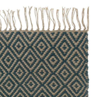 Dasheri runner, teal, 100% jute