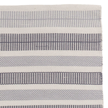 Vandani Rug off-white & grey & dark grey blue, 100% cotton