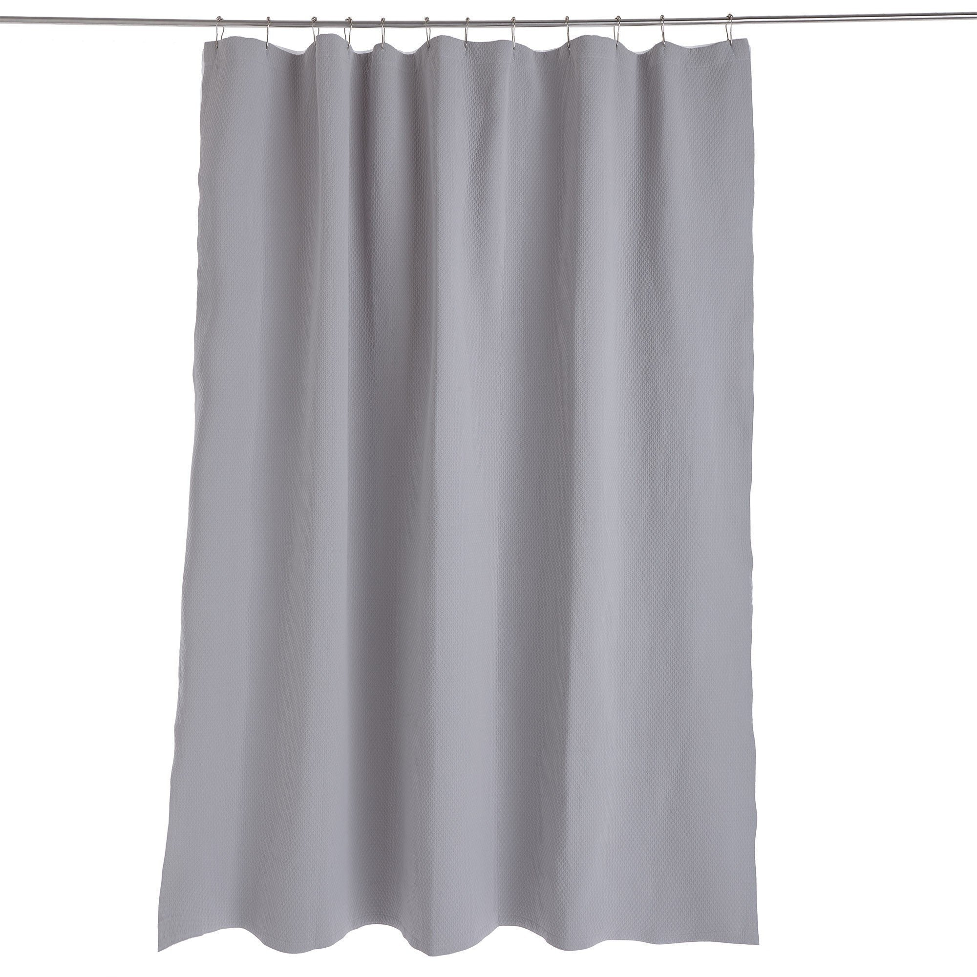 Proaza shower curtain, light grey, 100% cotton