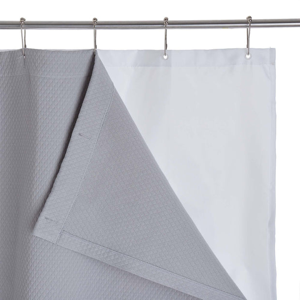 Proaza shower curtain, light grey, 100% cotton |High quality homewares