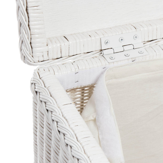 Java laundry basket in painted white, 100% rattan & 100% cotton |Find the perfect laundry baskets