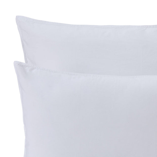 Luz duvet cover, white, 100% cotton | URBANARA cotton bedding