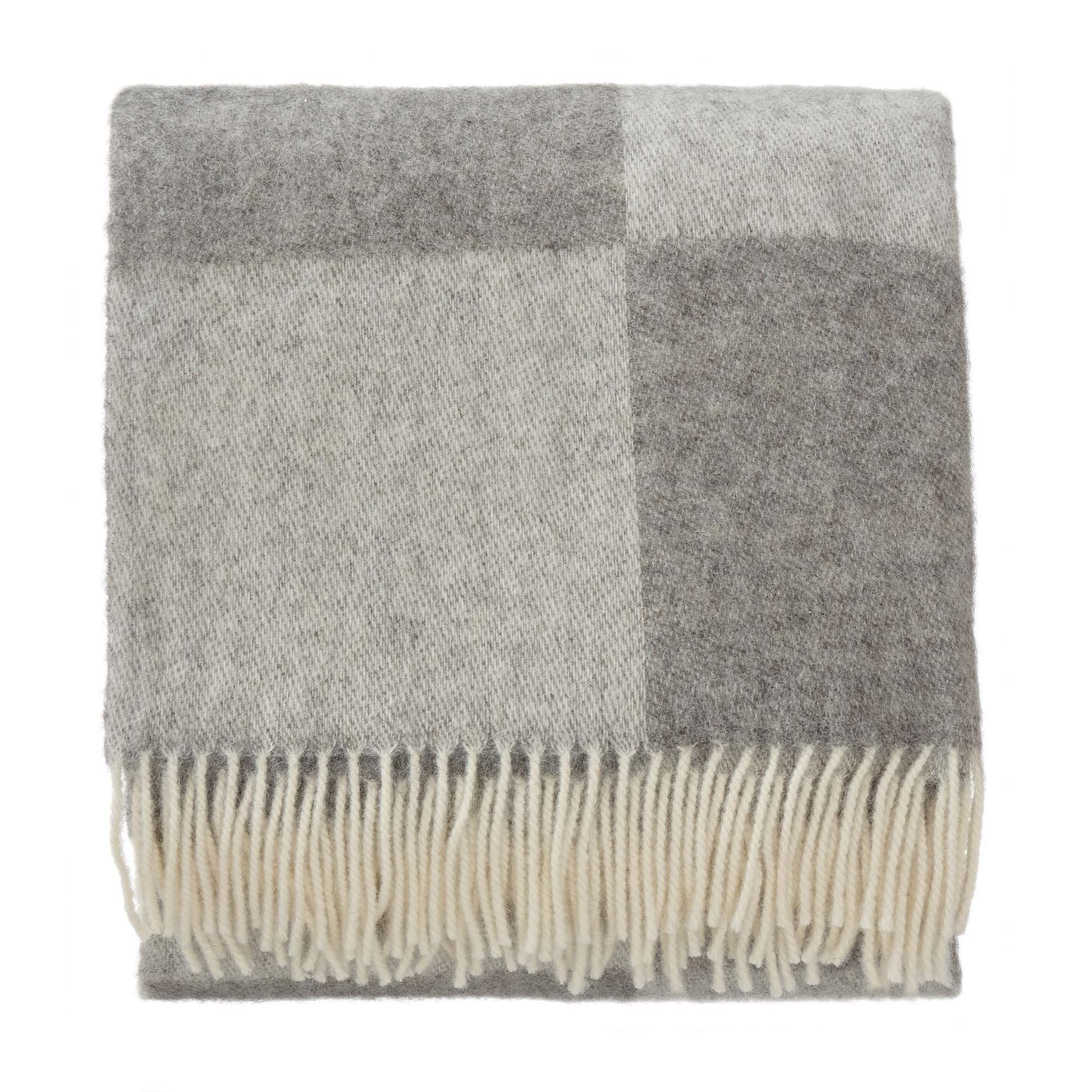 Saskatoon blanket, grey & light grey & grey, 100% wool