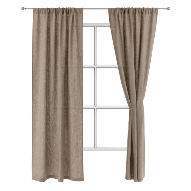 Fana curtain, natural, 100% linen