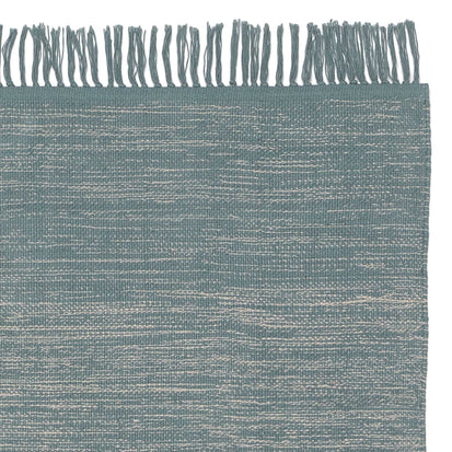 Ziller Rug green grey & natural white, 100% cotton