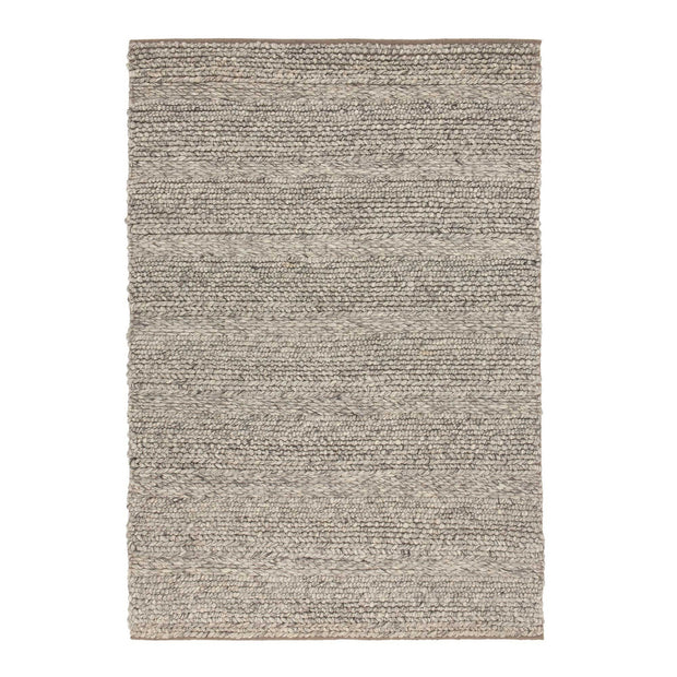 Kalgi Rug off-white & grey & light brown, 100% wool felt | URBANARA wool rugs