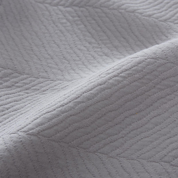 Cieza quilt, grey, 100% cotton | URBANARA bedspreads & quilts