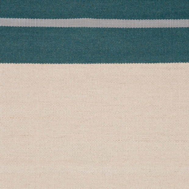 Katni rug, teal & off-white & light grey, 100% new wool |High quality homewares
