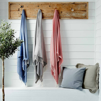 Cesme Hammam Towel in grey & white | Home & Living inspiration | URBANARA