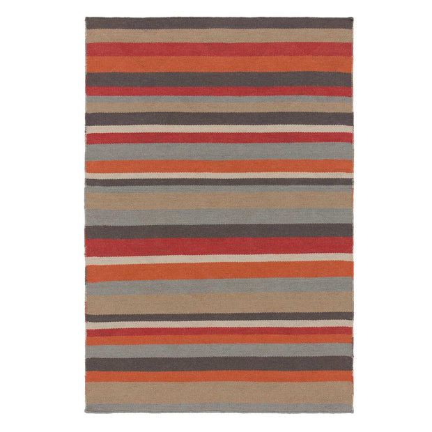 Barli rug in orange, 50% new wool & 50% cotton |Find the perfect wool rugs
