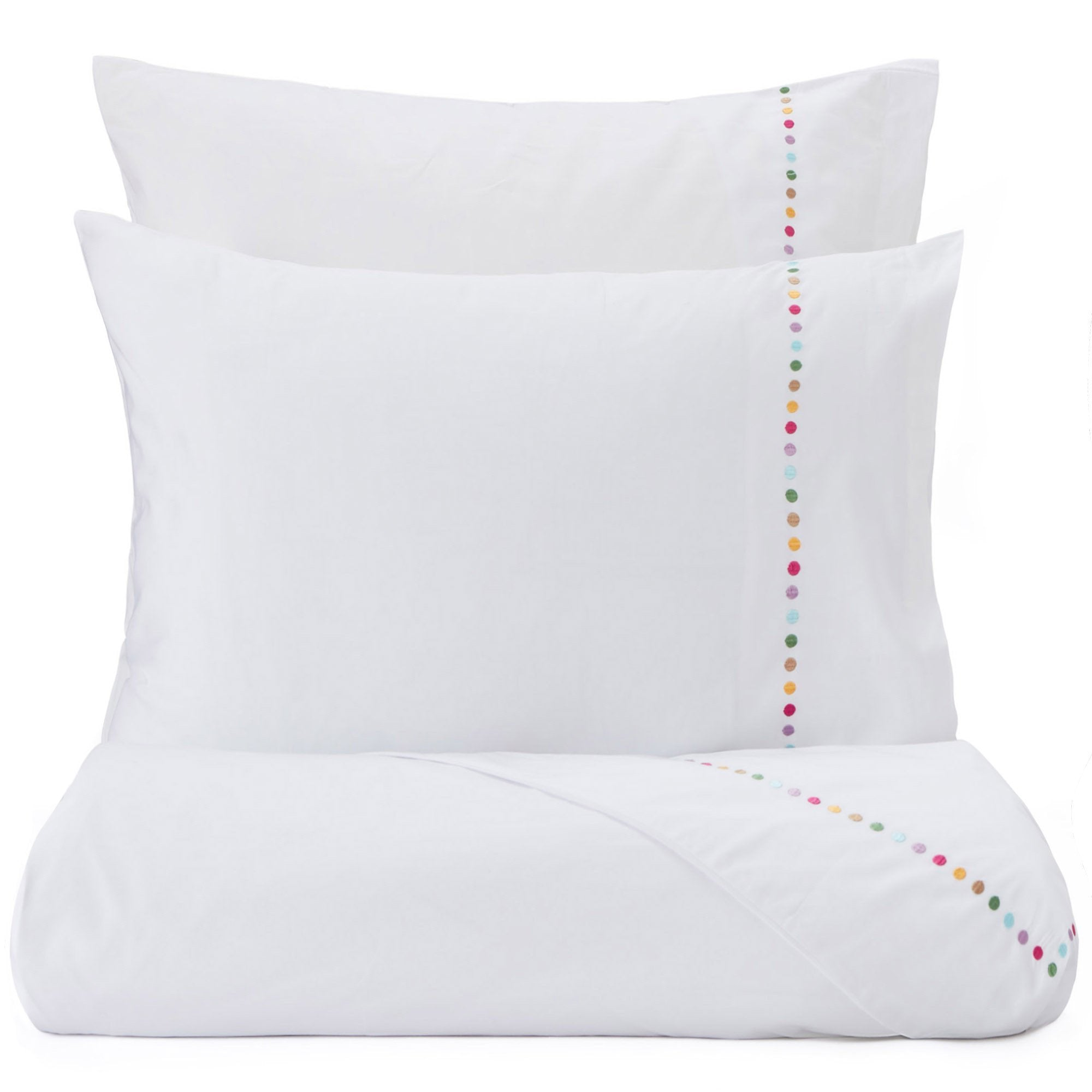 Mahina duvet cover, white & multicolour, 100% cotton