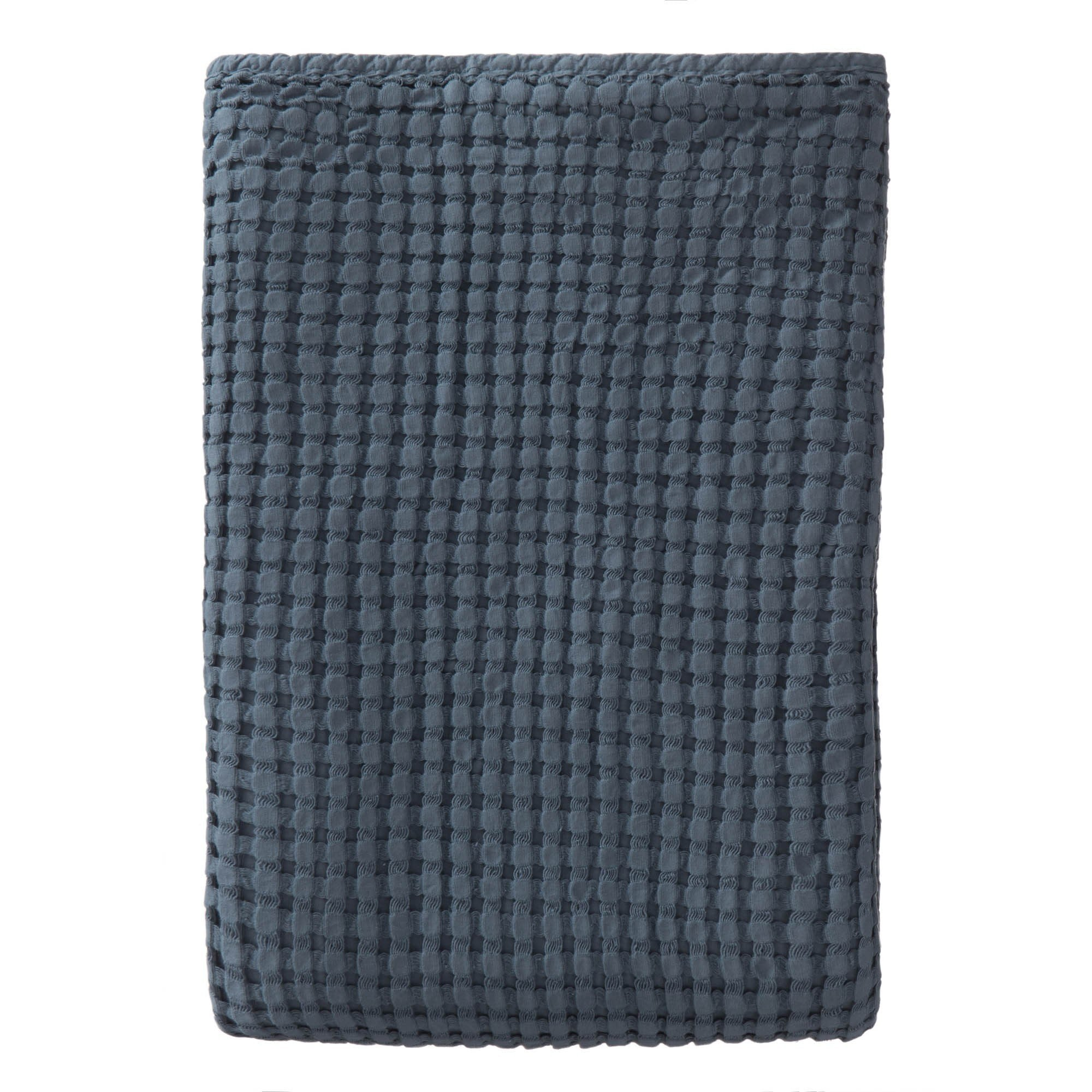Veiros bedspread, blue grey, 100% cotton